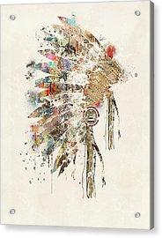 Headdress Acrylic Print by Bri B