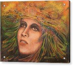 Headdress Acrylic Print by Debra Lynn Birchell