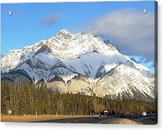 Heading For Banff Acrylic Print by George Cousins