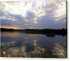 Heading Home On Lake Roosevelt In Outing Minnesota Acrylic Print