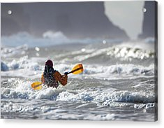 Heading Out At The La Push Pummel Acrylic Print by Gary Luhm
