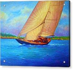 Heading Out Keehi Lagoon Acrylic Print by Joseph   Ruff