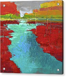 Heading West No. 3 Acrylic Print by Melody Cleary