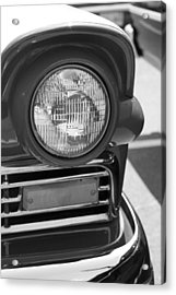 Headlight Black And White Acrylic Print by Denise Beverly
