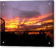 Headlights Of Sunset Acrylic Print