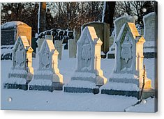 Headstones In Winter 2 Acrylic Print