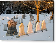Headstones In Winter 3 Acrylic Print