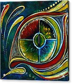 Acrylic Print featuring the painting Healer Spirit Eye by Deborha Kerr
