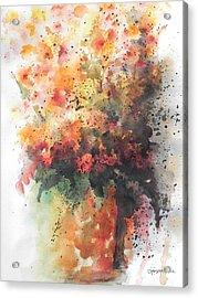 Healing Acrylic Print by Chrisann Ellis