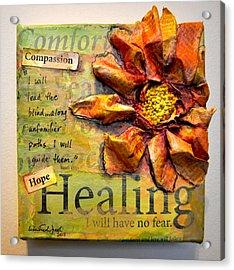 Healing From Isaiah 42 Acrylic Print by Lisa Fiedler Jaworski