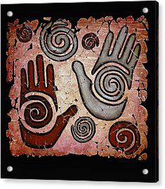 Healing Hands Fresco Acrylic Print