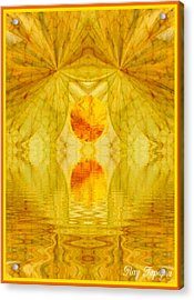 Healing In Golden Sunlight Acrylic Print by Ray Tapajna