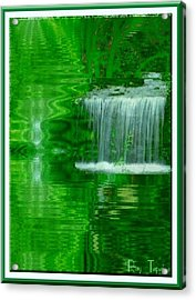 Healing In Green Waters Acrylic Print by Ray Tapajna