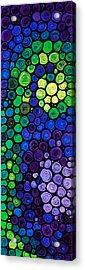 Healing Light - Mosaic Art By Sharon Cummings Acrylic Print