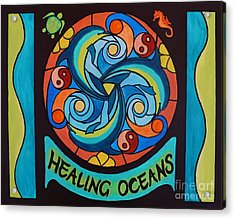 Acrylic Print featuring the painting Healing Oceans by Janet McDonald