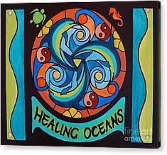 Healing Oceans Acrylic Print by Janet McDonald