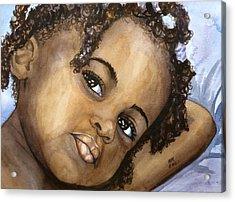 Nigerian Eyes Acrylic Print
