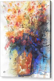 Healing With Blue Acrylic Print by Chrisann Ellis