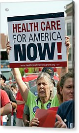 Healthcare Reform Campaign Acrylic Print by Jim West