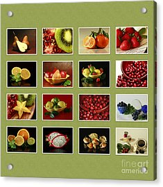 Healthy International Fruits Collection Acrylic Print by Inspired Nature Photography Fine Art Photography