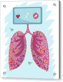 Healthy Lungs Acrylic Print