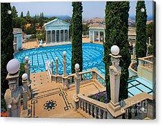 Hearst Castle Neptune Pool Acrylic Print by Inge Johnsson