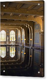 Hearst Castle Roman Pool Reflection Acrylic Print by Heidi Smith