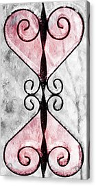 Heart 2 Heart Acrylic Print by Andee Design