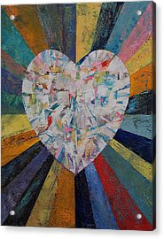 Diamond Heart Acrylic Print