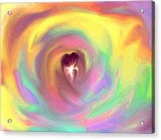 Heart Abstract Acrylic Print by Marianna Mills