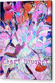 Heart Bouquet  Acrylic Print by ARTography by Pamela Smale Williams