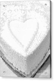 Heart Cake Acrylic Print by Kathleen Struckle