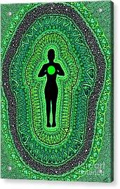 Heart Chakra Anahata Acrylic Print
