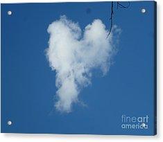 Heart Cloud Bell Rock Acrylic Print by Marlene Rose Besso