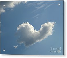 Heart Cloud Sedona Acrylic Print by Marlene Rose Besso