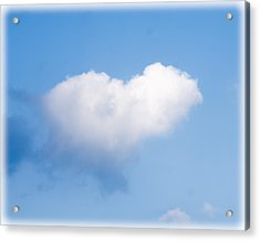 Heart Cloud Acrylic Print by Shirley Tinkham