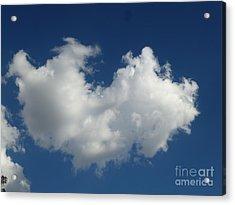 Heart Clouds Bell Rock Vortex Acrylic Print by Marlene Rose Besso