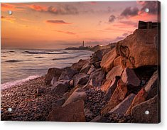 Heart Face Rock Acrylic Print by Peter Tellone