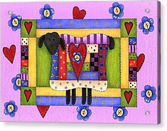Heart For Ewe Acrylic Print by Tracy Campbell