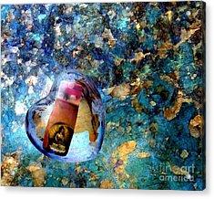 Heart Glass Orbs Stupa Acrylic Print by Marlene Rose Besso