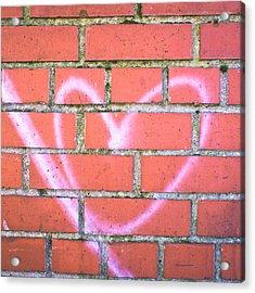 Heart Graffiti Acrylic Print by Tom Gowanlock