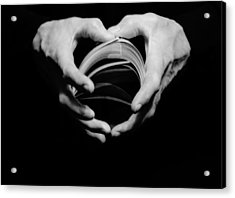 Heart In Hand Acrylic Print