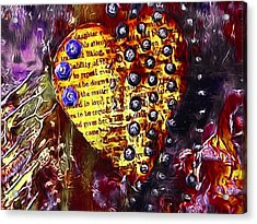 Heart In Yellow Acrylic Print by Bellesouth Studio
