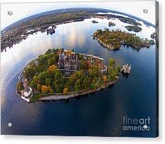 Heart Island George Boldt Castle Acrylic Print by Tony Cooper