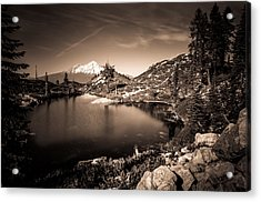 Heart Lake And Mt Shasta Acrylic Print