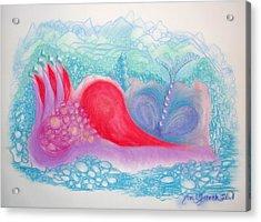 Heart Land Acrylic Print by Mademoiselle Francais