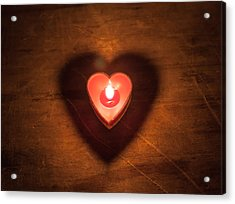 Acrylic Print featuring the photograph Heart Light by Aaron Aldrich