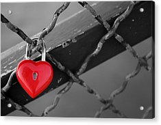 Acrylic Print featuring the photograph Heart Lock by Lisa Parrish