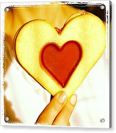 Heart Love Cookie Acrylic Print by Matthias Hauser