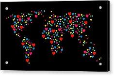 Heart Map  Acrylic Print by Mark Ashkenazi